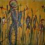 Entre amics - Between friend 165 x 130 cm tec mix on canvas