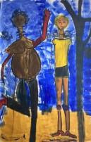 Expect client - 120 x 200 cm - Tec mix on canvas